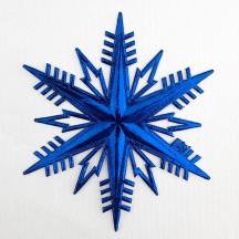 Classic Dark Blue Dresden Foil Snowflakes ~ 2