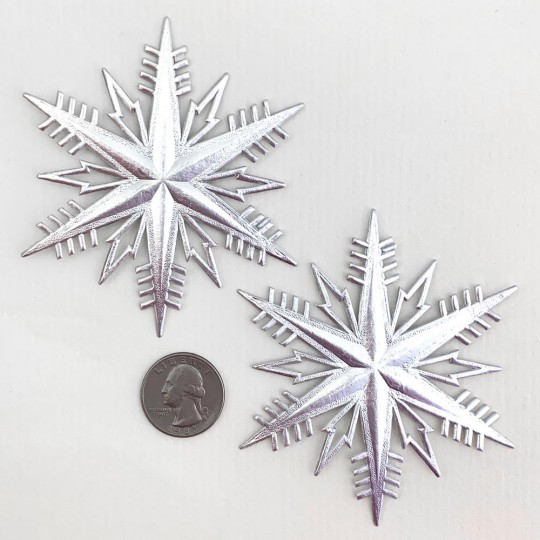 Classic Silver Dresden Foil Snowflakes ~ 2