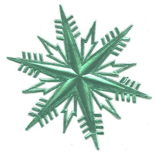 Classic Aqua Dresden Foil Snowflakes ~ 2