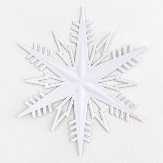 Classic White Paper Dresden Snowflakes ~ 2
