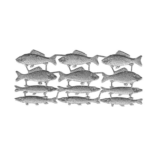 Silver Dresden Foil Fish ~ 12
