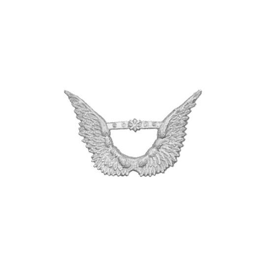Silver Dresden Foil Angel Wings ~ 8