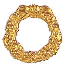 Antique Gold Dresden Foil Christmas Wreaths ~ 9