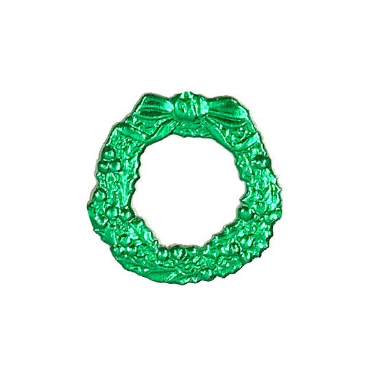 Green Dresden Foil Christmas Wreaths ~ 9