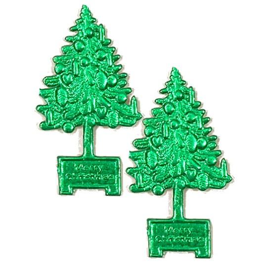 Green Dresden Foil Christmas Trees ~ 8