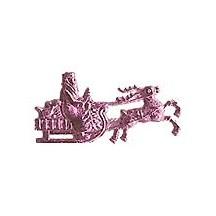 Pink Dresden Foil Santa in Sleigh ~ 16
