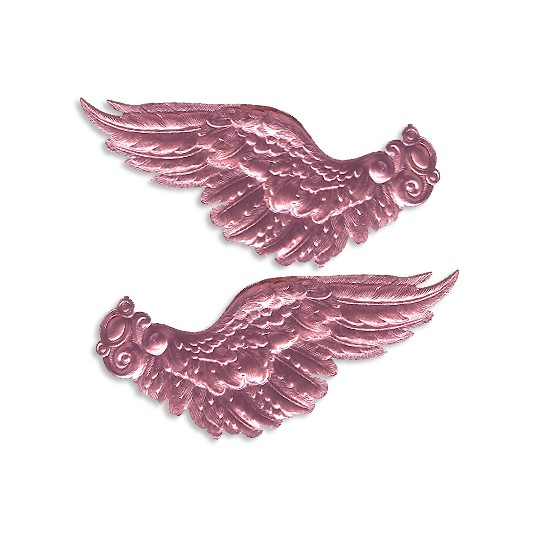 Extra Large Pink Dresden Foil Wings ~ 2 pair