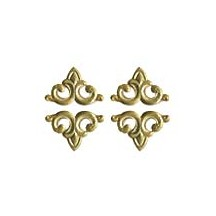 Gold Dresden Foil Fleur-de-lis Swirl ~ 24