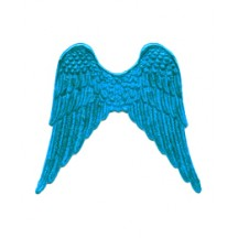 Large Bright Turquoise Dresden Foil Wings ~ 4
