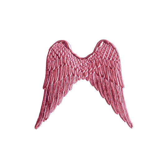 Large Pink Dresden Foil Wings ~ 4