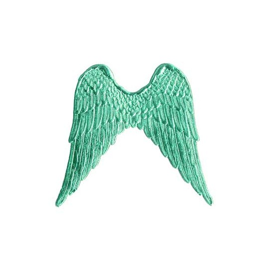 Large Aqua Dresden Foil Wings ~ 4