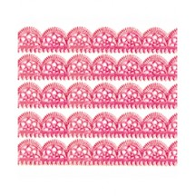 "Pink Dresden Scalloped Trim ~ 1/2"" wide"