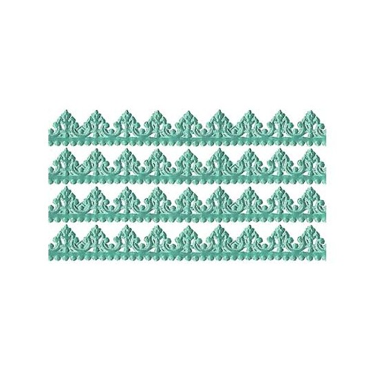 "Aqua Dresden Baroque Trim ~ 1/2"" wide"