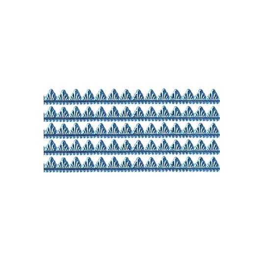 "Steel Blue Petite Pennant Dresden Foil Trim ~ 1/8"""