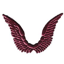 Celestial Burgundy Dresden Angel Wings ~ 10