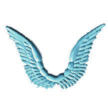 Celestial Light Blue Dresden Angel Wings ~ 10