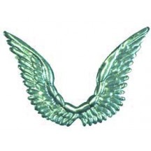 Celestial Aqua Dresden Angel Wings ~ 10