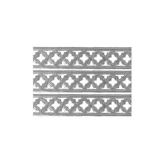 """Silver Dresden Gothic Quadrofoil Trim ~ 1/2"""" wide"""