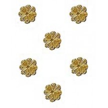 Antique Gold Dresden Foil Flowers ~ 200