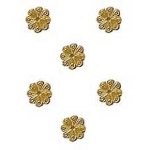 Antique Gold Dresden Foil Flowers ~ 200