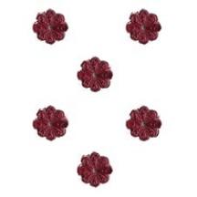 Burgundy Dresden Foil Flowers ~ 200