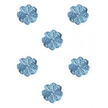 Light Blue Dresden Foil Flowers ~ 200