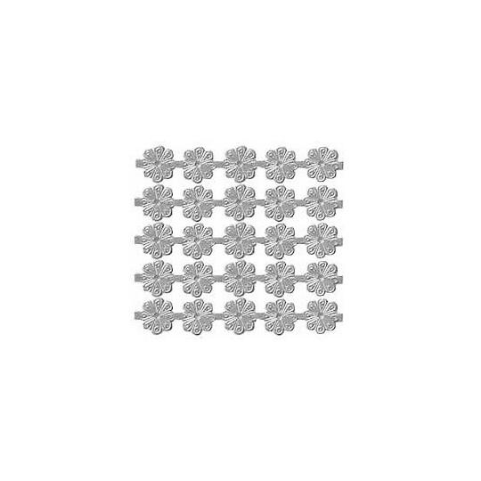 Silver Dresden Foil Flowers ~ 200