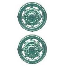 Aqua Dresden Foil Filligree Snowflake Medallions ~ 4