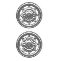 Silver Dresden Foil Filligree Snowflake Medallions ~ 4