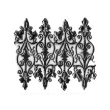 Black Dresden Foil Embellishments ~ 8