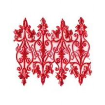 Red Dresden Foil Embellishments ~ 8