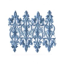 Steel Blue Dresden Foil Embellishments ~ 8