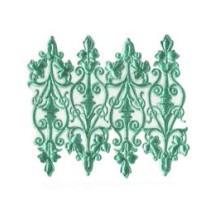 Aqua Dresden Foil Embellishments ~ 8