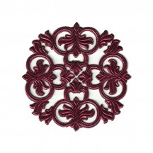 Burgundy Dresden Foil Medallions ~ 3