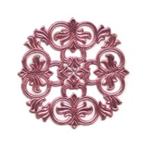 Pink Dresden Foil Medallions ~ 3