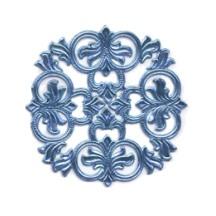 Steel Blue Dresden Foil Medallions ~ 3
