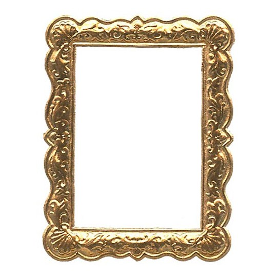 Antique Gold Dresden Foil Shell Frame ~ 1