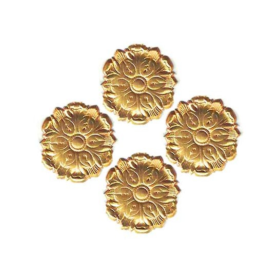 Antique Gold Dresden Foil Medallions ~ 24