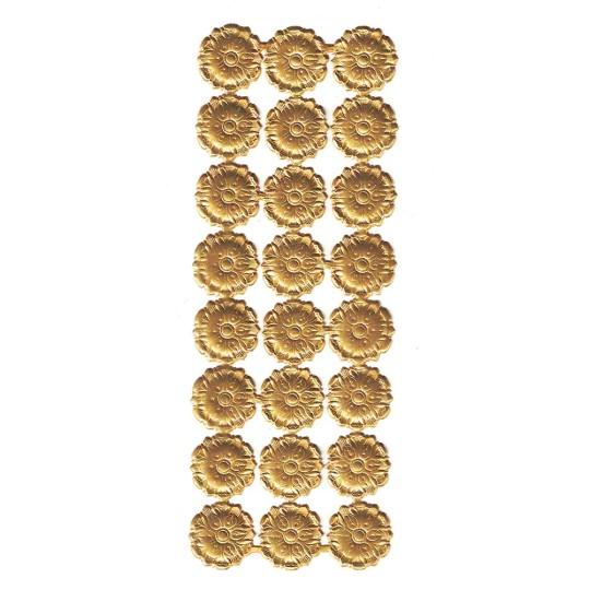 Antique Gold Dresden Foil Medallions ~ 24