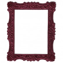 Burgundy Dresden Foil Ornate Shell Frame ~ 1