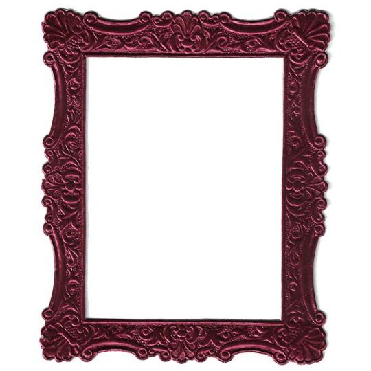 Burgundy Dresden Foil Ornate Shell Frame ~ 1