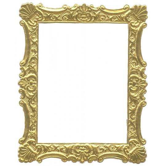 Gold Dresden Foil Ornate Shell Frame ~ 1