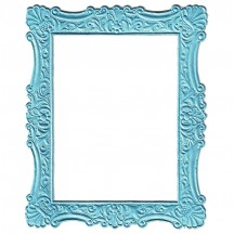 Light Blue Dresden Foil Ornate Shell Frame ~ 1