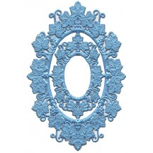 Light Blue Foil Grape Leaf Frames ~ 2