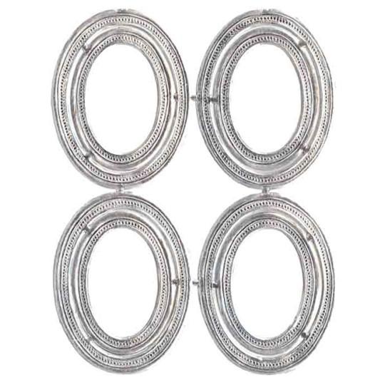 Beaded Silver Dresden Foil Frames ~ 8