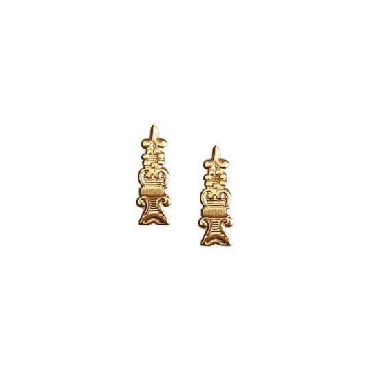 Antique Gold Dresden Foil Fancy Embellishments ~ 24