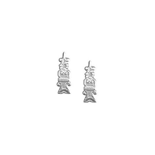 Silver Dresden Foil Fancy Embellishments ~ 24