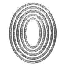 Beaded Silver Dresden Foil Frames ~ 5 Asst. Sizes