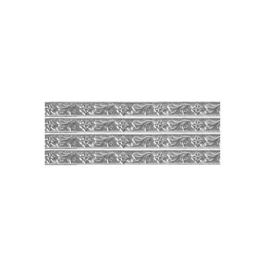 "Silver Flower & Leaf Dresden Foil Trim ~ 3/16"""