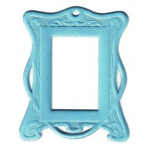 Light Blue Art Nouveau Dresden Foil Frames ~ 2